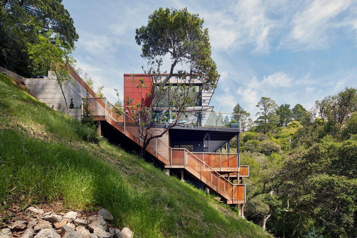 Дом с шикарным видом на долину в Калифорнии (19 фото)