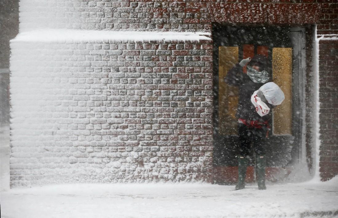 Зимний шторм в США (40 фото)