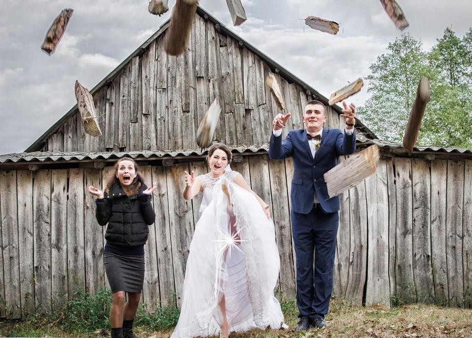 Забавные свадебные фото (35 фото)