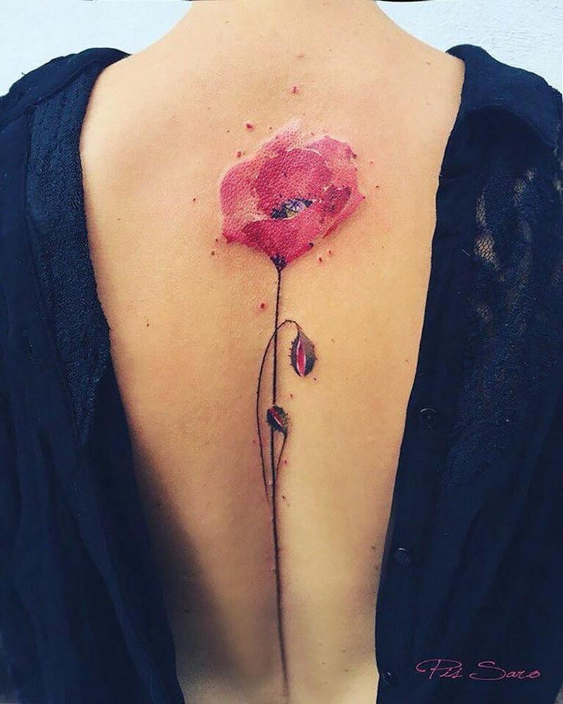 Цветочные татуировки от разных художников (30 фото)