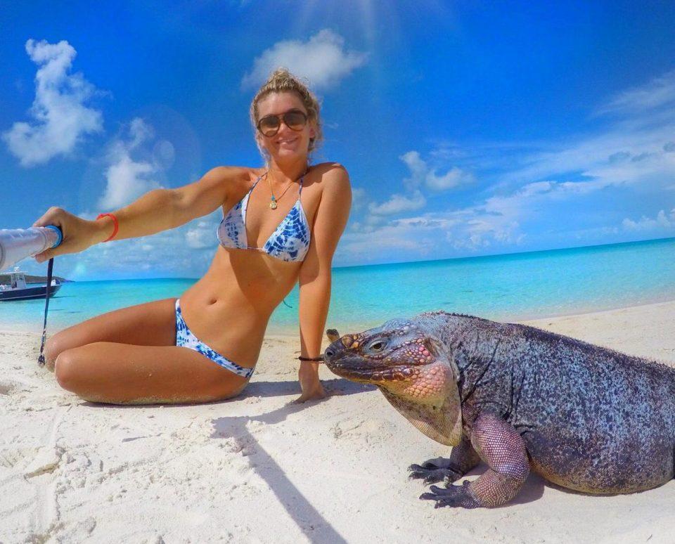 Студентка избавилась от депрессии, общаясь с акулами, скатами и свиньями на Багамах (11 фото)