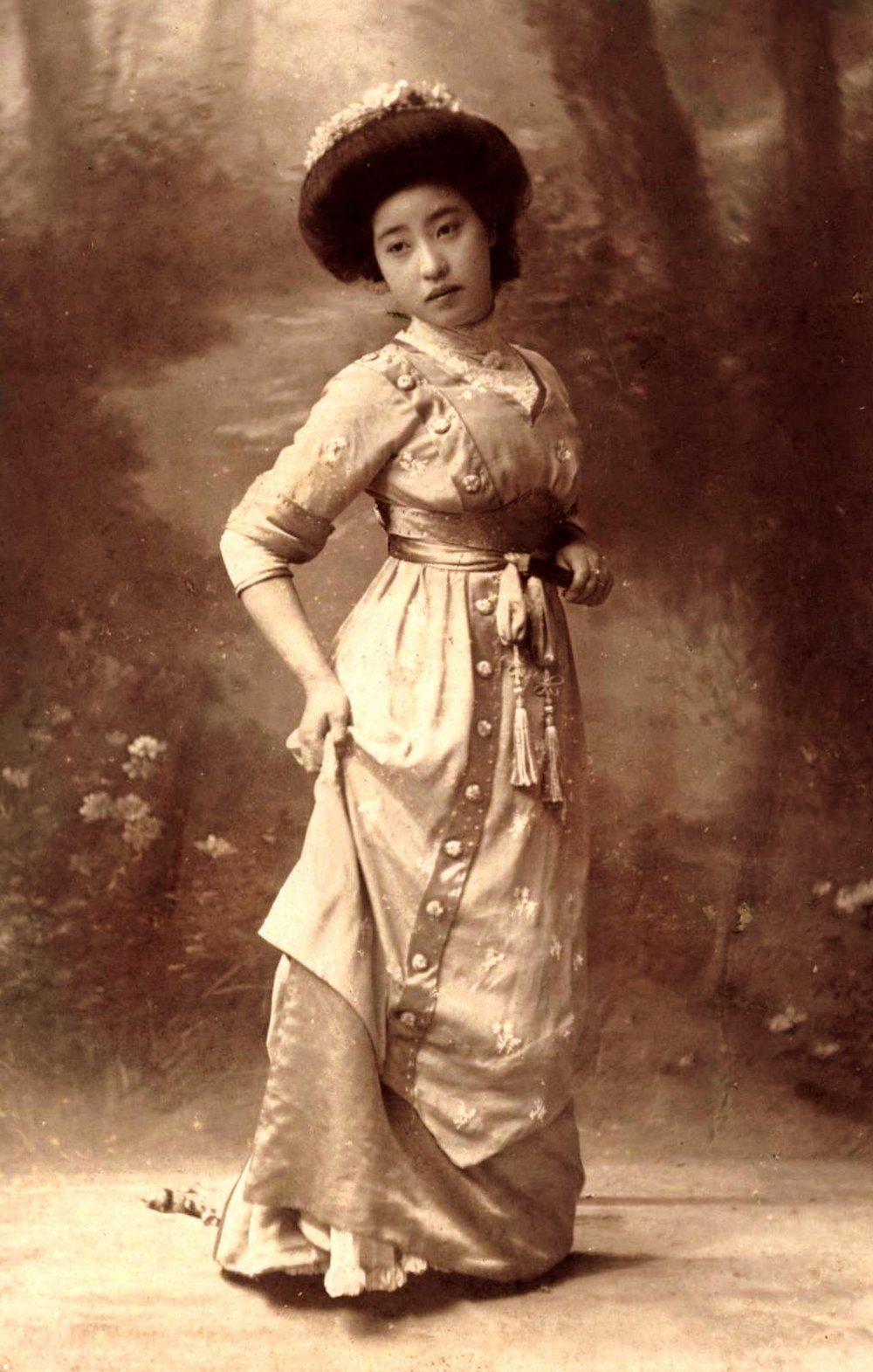 Портреты молодых гейш 1900-х годов (18 фото)
