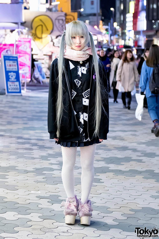 Интересные и модные персонажи с улиц Токио - 7 (50 фото)