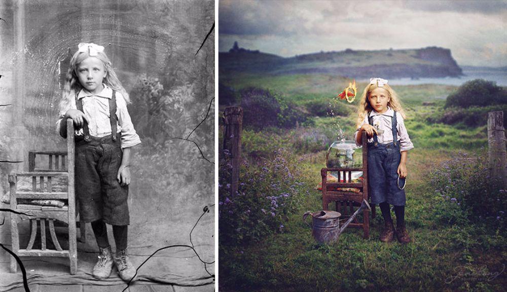 Причудливая реставрация старых фотографий