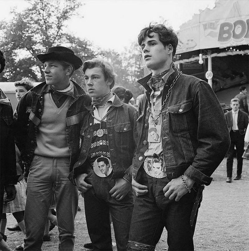 Уличный стиль швейцарской молодежи конца 1950-х годов