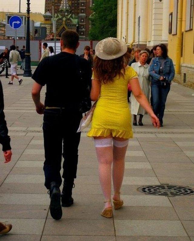 Модные и странные персонажи на питерских улицах
