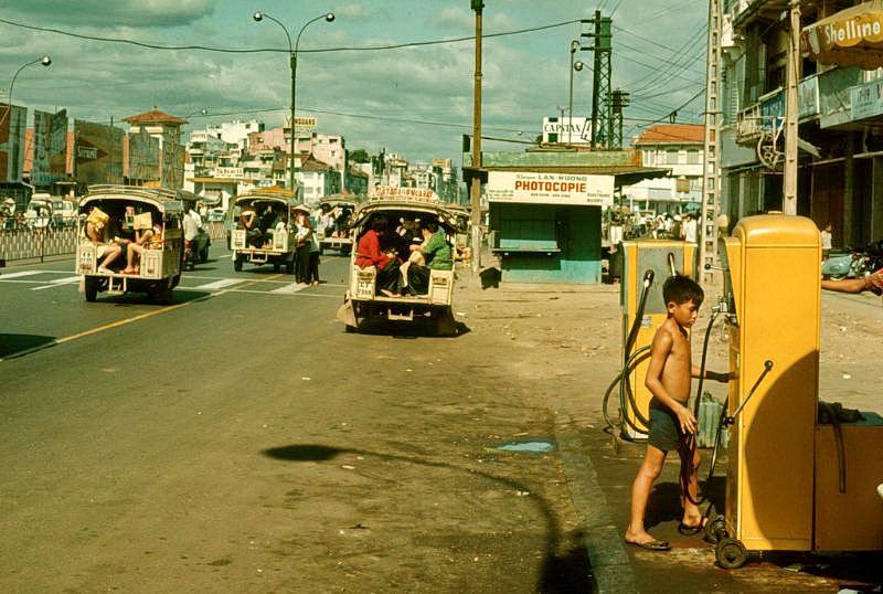 Уличные сцены Сайгона, Вьетнам в начале 1970-х