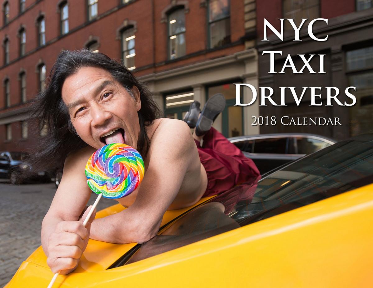 Прикольный календарь с таксистами Нью-Йорка (15 фото)
