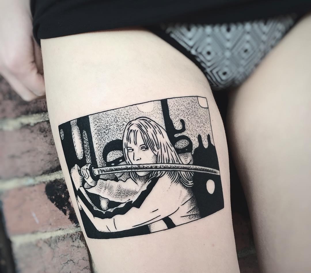 Удивительные черно-белые татуировки от Чарли Джерардин (26 фото)