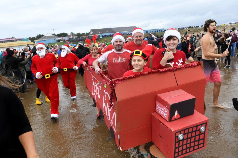 рождественские заплывы в Великобритании