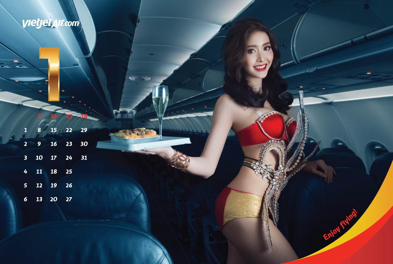 Соблазнительный календарь вьетнамской авиакомпании Vietjet на 2018 год