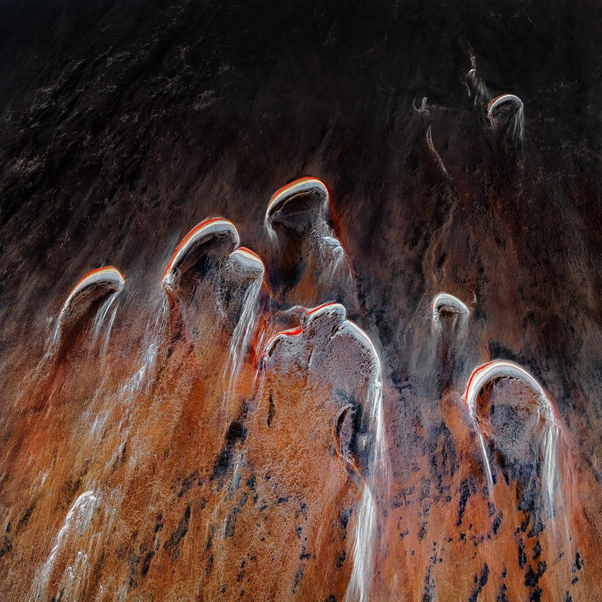 аэрофотографии потоков озера Эйр