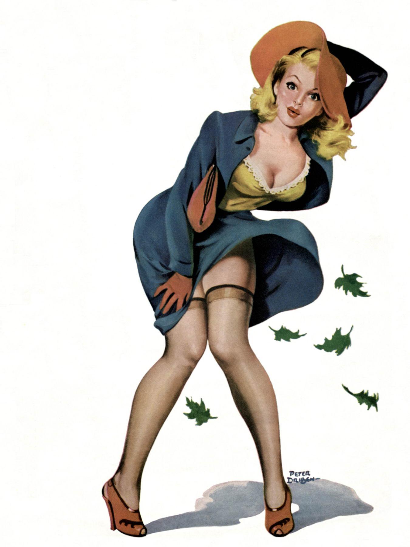 Пин-ап девушки 40-50-х годов