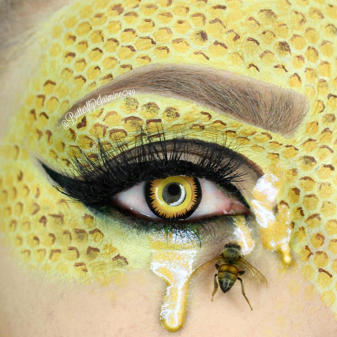Экстремальный макияж с мертвыми насекомыми (20 фото)