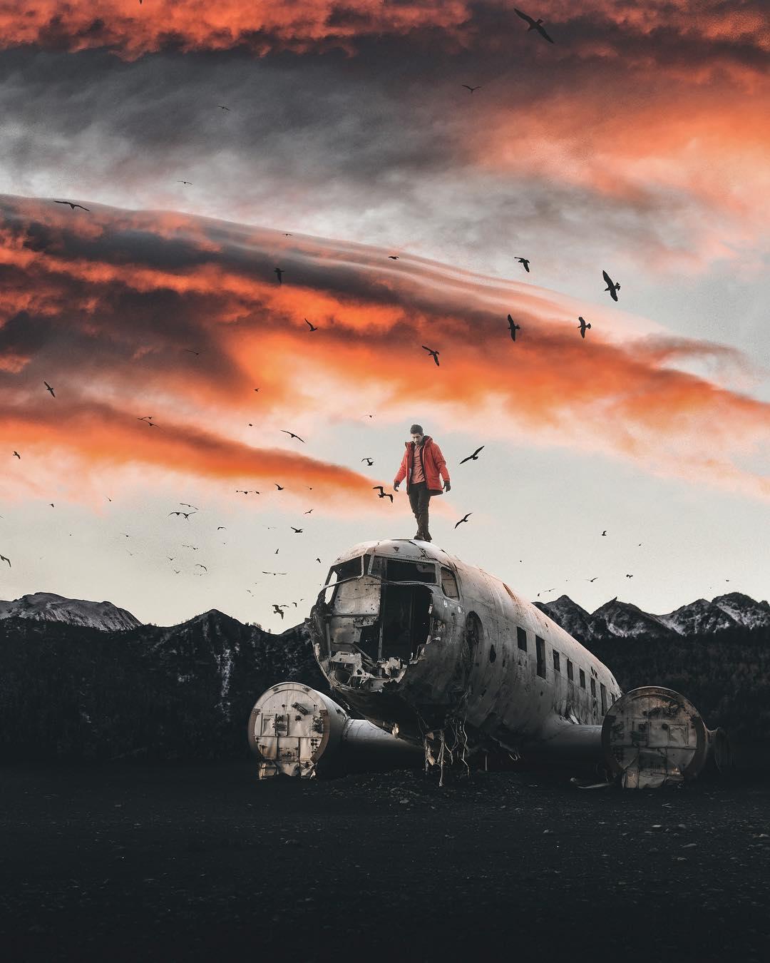 Мастерские фотоманипуляции Уэсли Грима
