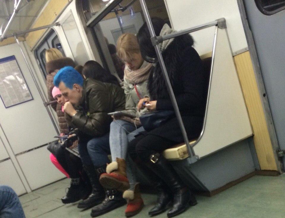 Модные чудики из российского метрополитена - 31 (39 фото)