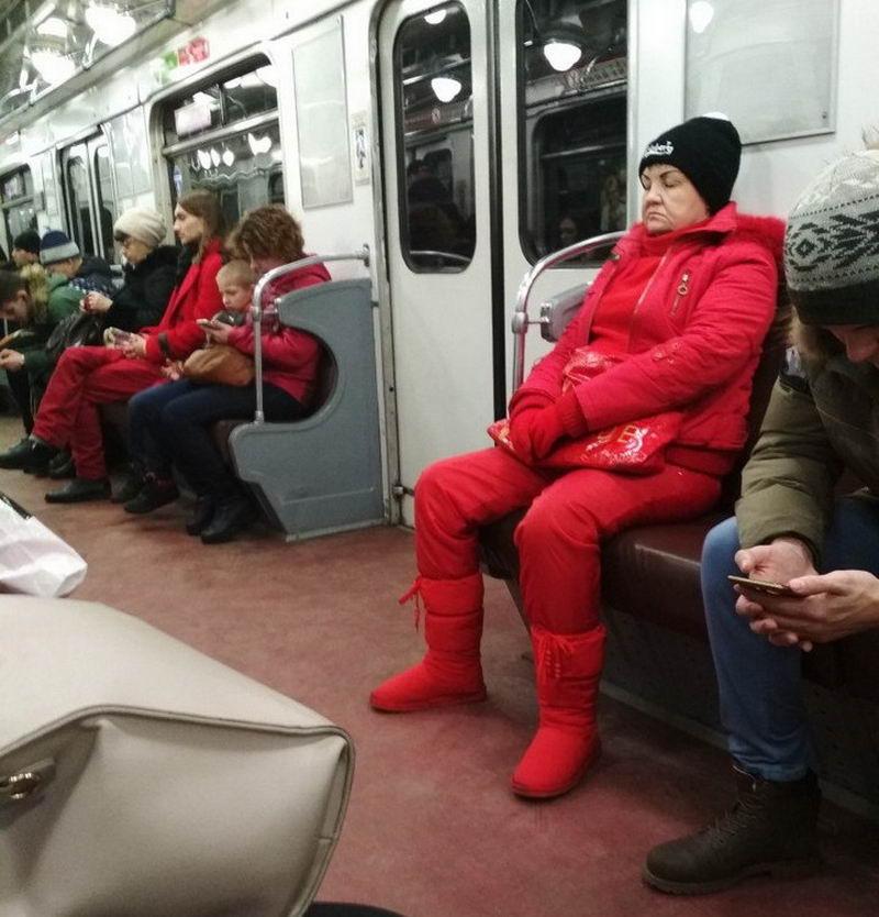 Моднявые чудики их российского метрополитена