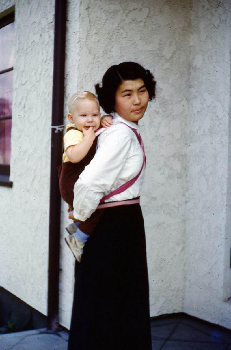 Цветные ретро фото повседневной жизнь Японии в послевоенную эпоху