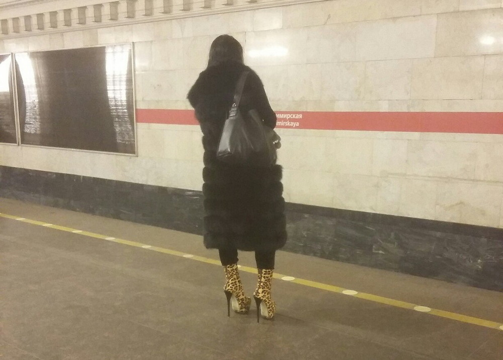 Забавные чудики из российского метро - 35 (36 фото)