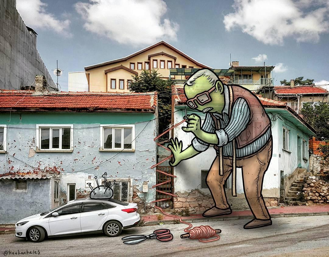 Тайная жизнь гигантов на улицах турецких городов (50 фото)