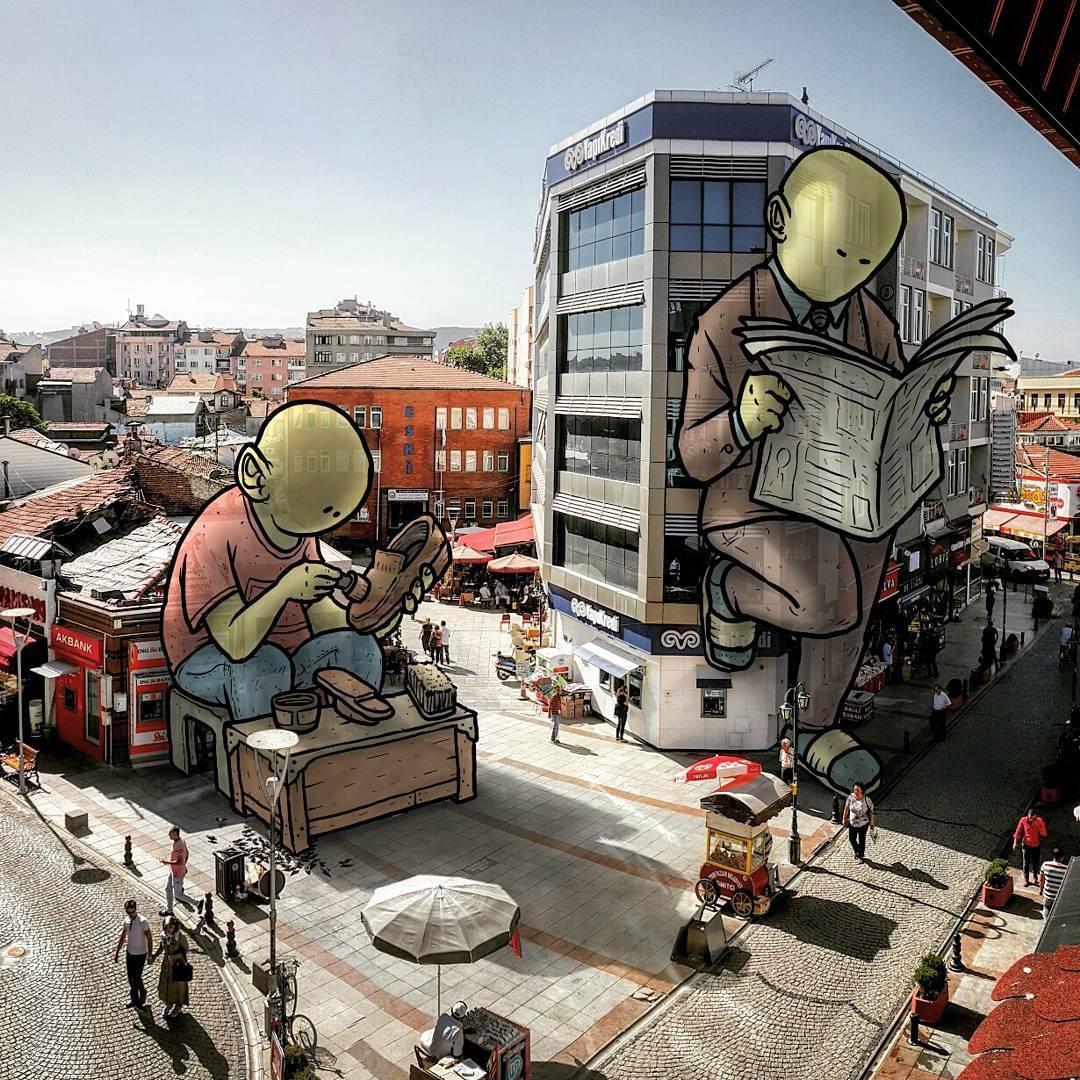 Тайная жизнь гигантов на улицах турецких городов