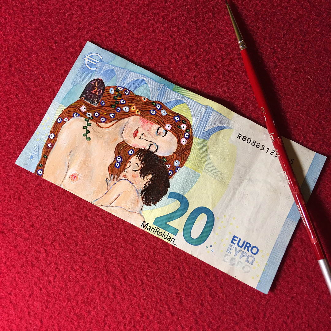 Знаменитые картины на европейских банкнотах (15 фото)