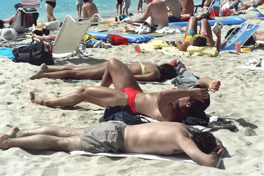 49 цветных фотографий повседневной жизни пляжа Вайкики