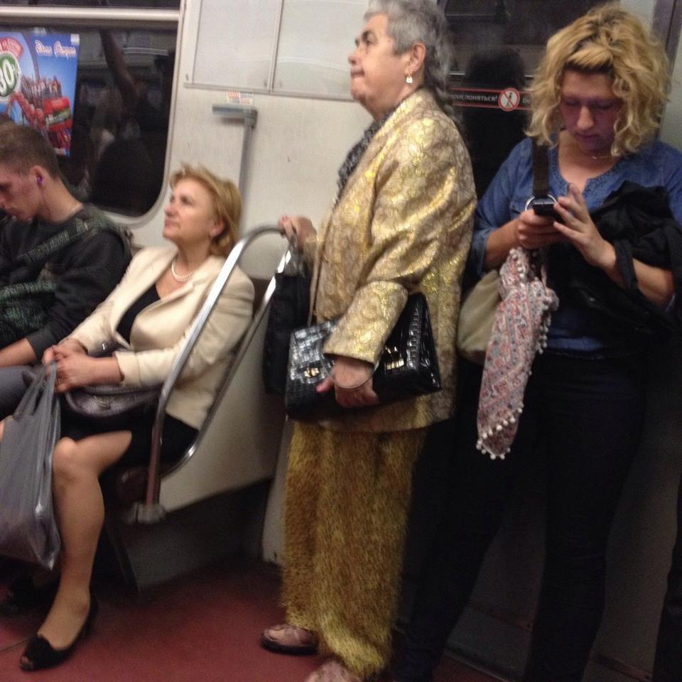 Модники из российского метро - 40 (41 фото)