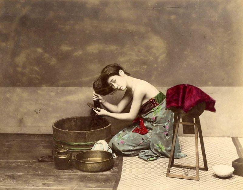 Фотографии, которые показывают повседневную жизнь Японии в XIX веке (40 фото)
