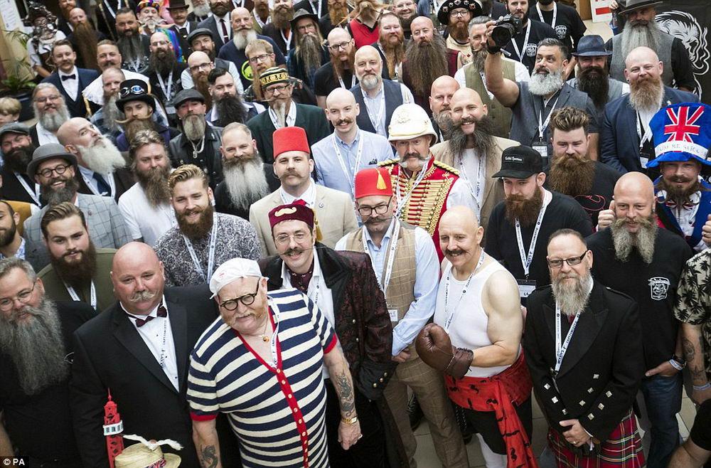 Конкурс бородачей и усачей 2018 в Великобритании (22 фото)