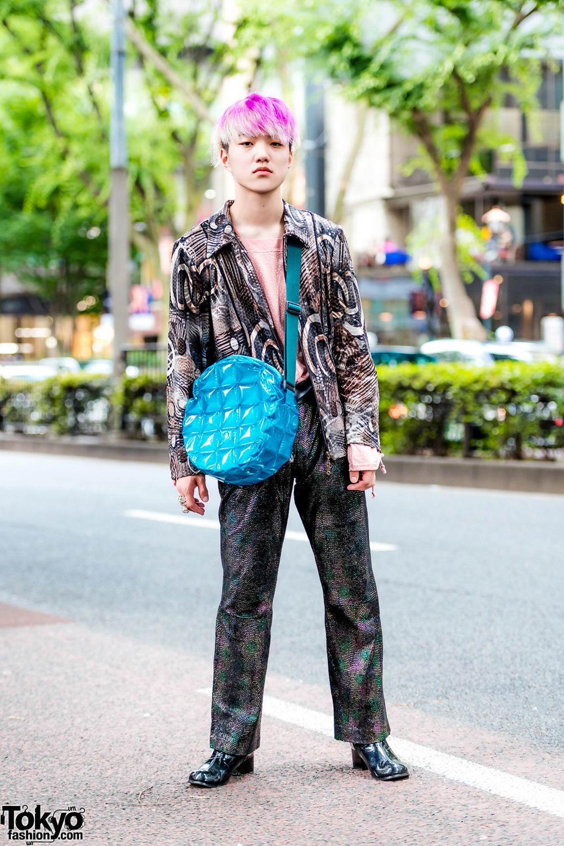 Модные и интересные персонажи с улиц Токио - 21 (48 фото)