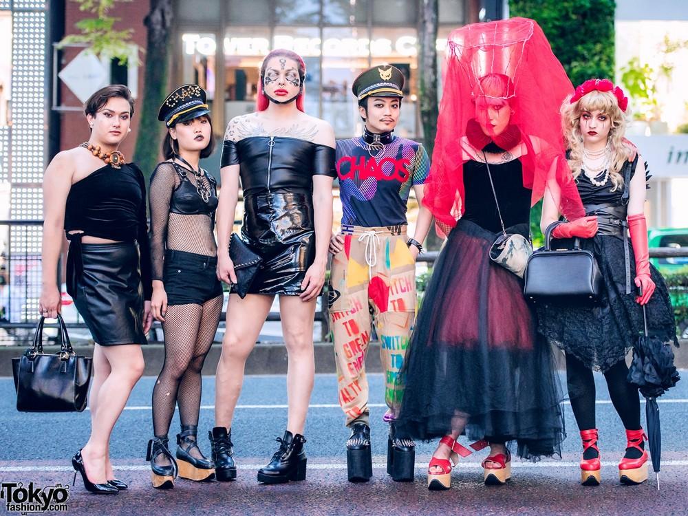 Модные и интересные персонажи с улиц Токио - 22 (40 фото)