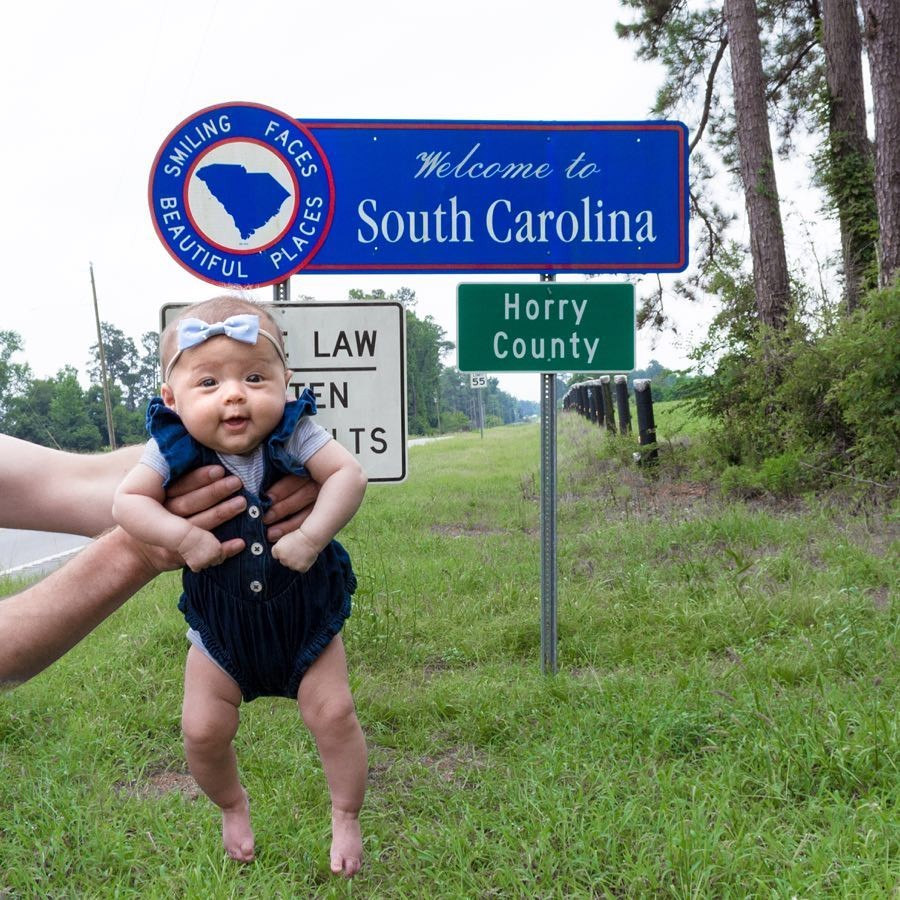 Пятимесячный ребенок посетил все 50 штатов США (35 фото)