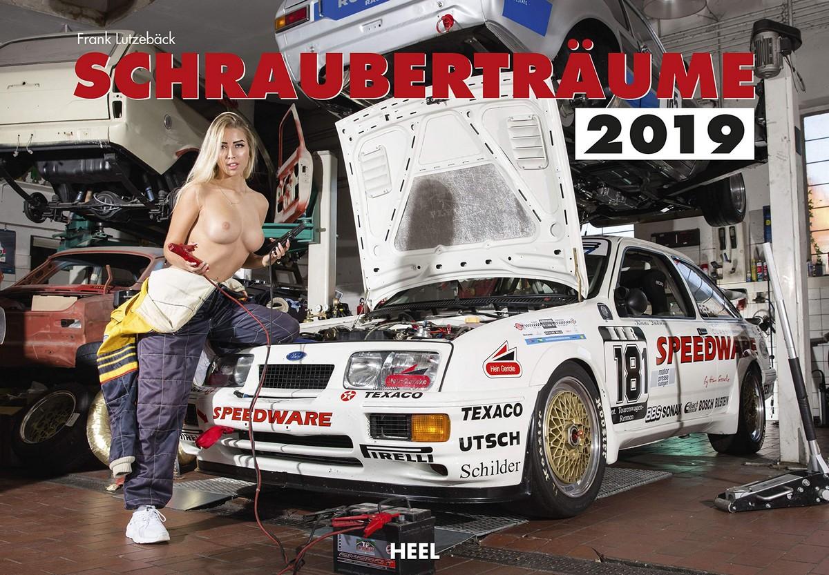 Календарь с сексуальными девушками и классическими автомобилями (15 фото)