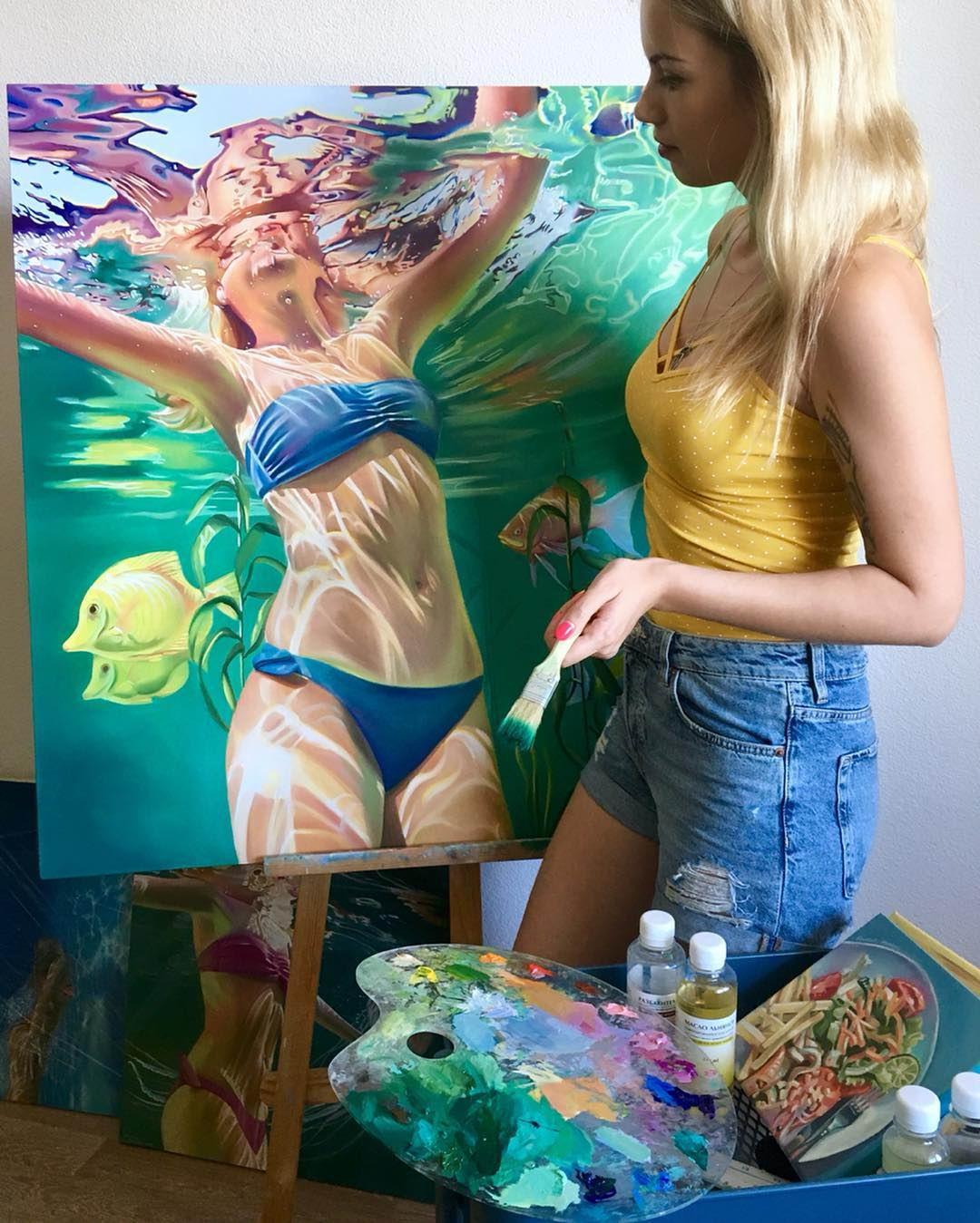 Впечатляющие картины маслом Анастасии Морской (20 фото)