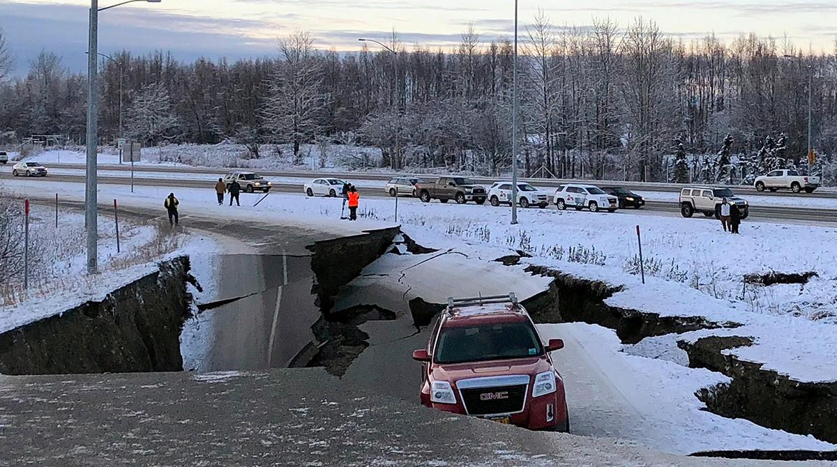 Мощное Землетрясение на Аляске (12 фото)