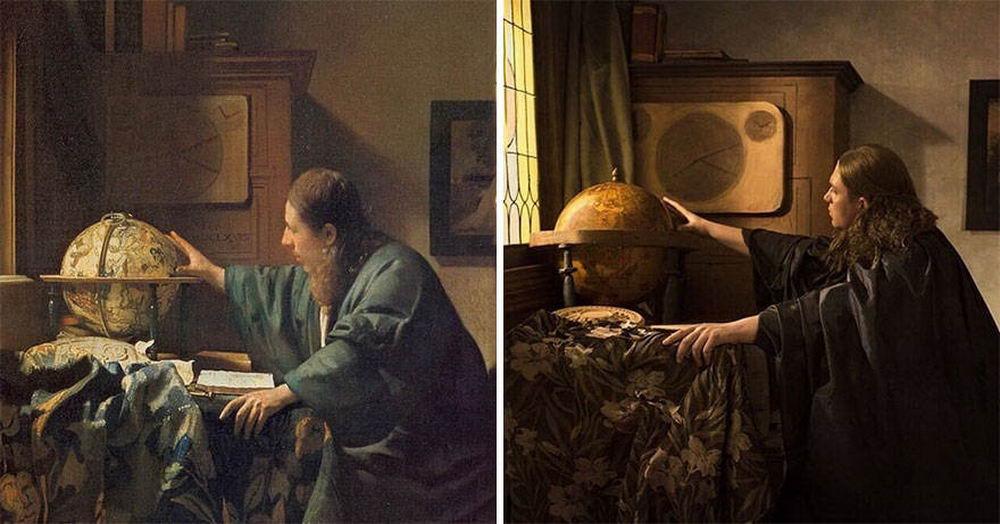 Современные артисты воссоздают известные произведения искусства (49 фото)