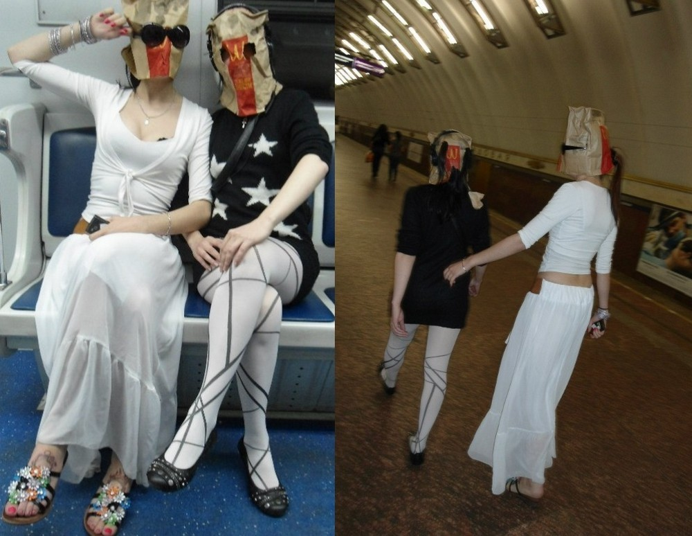 Модники и чудики из российского метрополитена - 88 (40 фото)