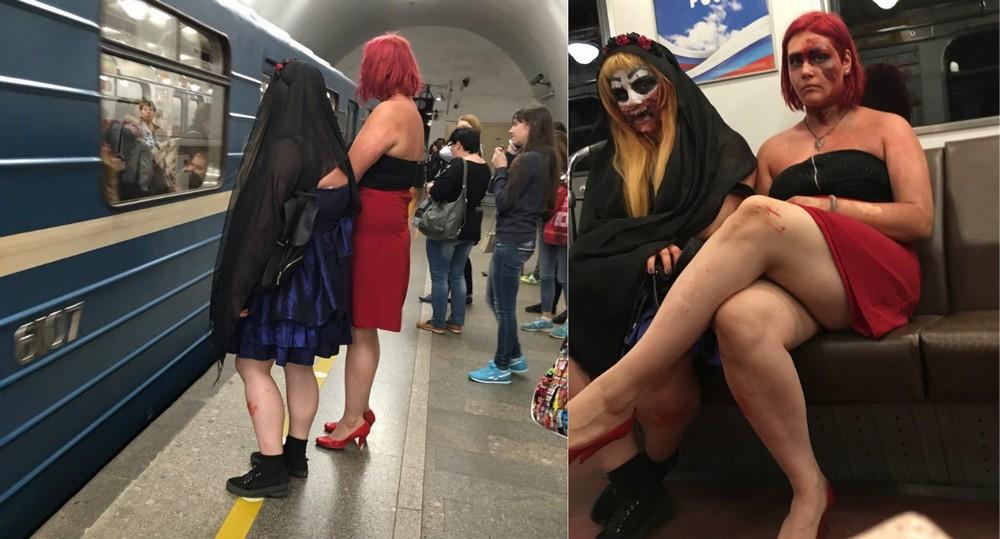 Модники и чудики из российского метрополитена - 89 (40 фото)