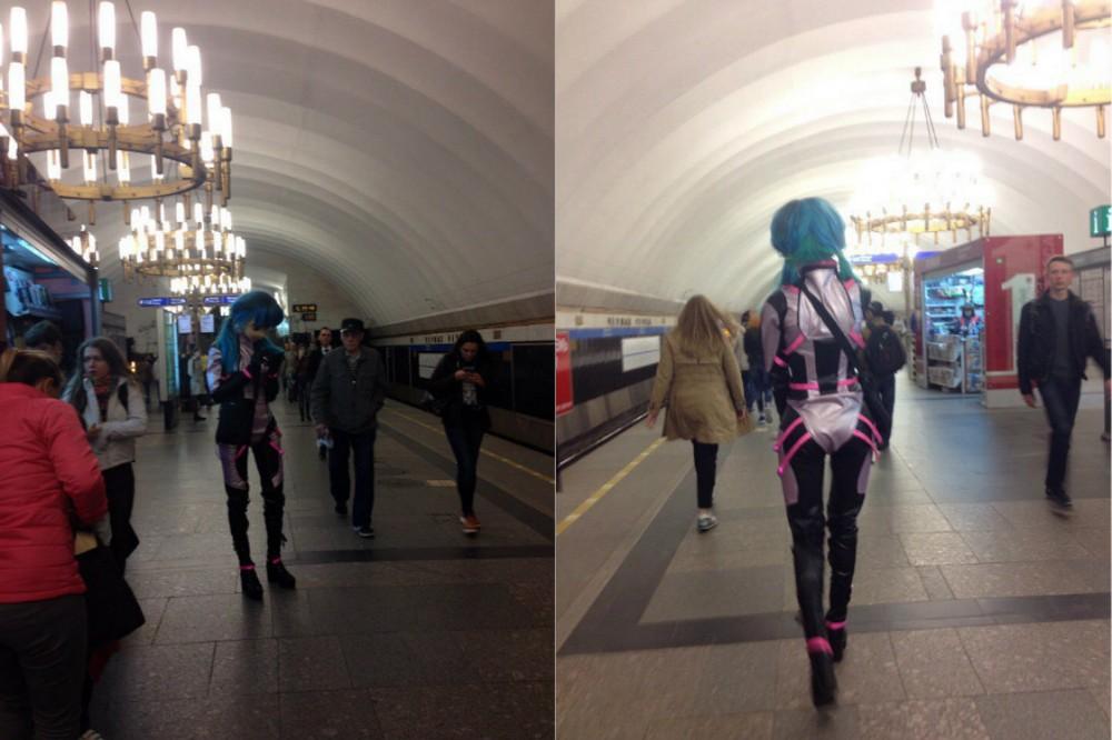 Модники и чудики из российского метрополитена - 91 (40 фото)