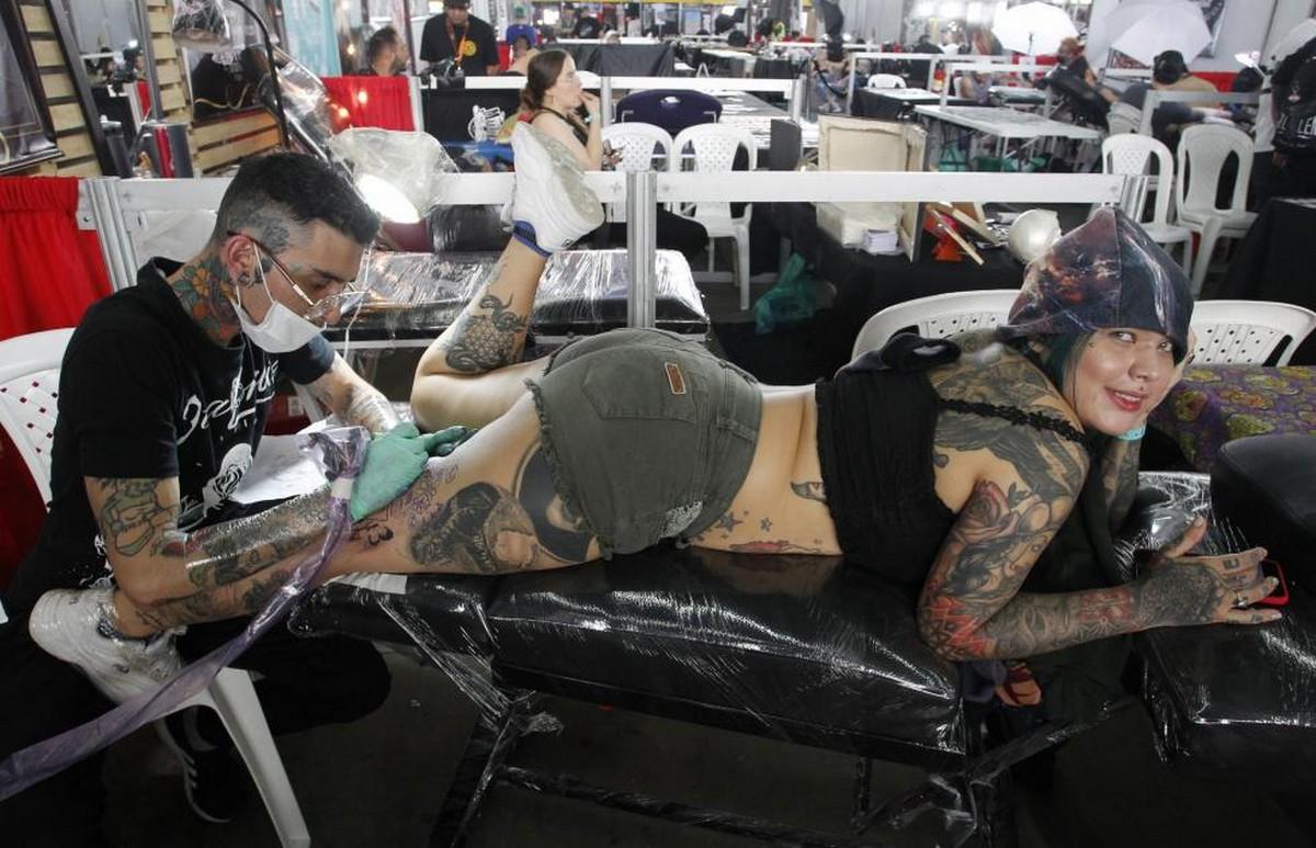Выставка татуировок \Expotatuaje 2019\ в Медельине (25 фото)