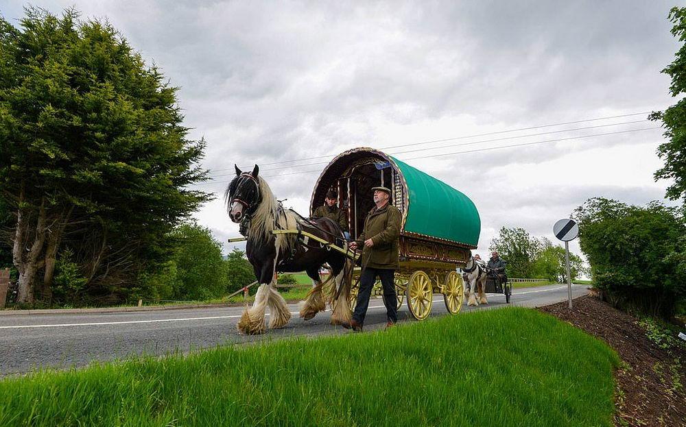 Самое большое собрание цыган в Европе: ярмарка лошадей Эпплби (35 фото)