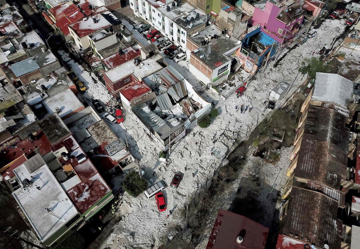 Аномальный град в Гвадалахаре (фото+видео)