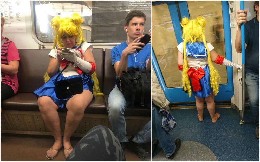 Модники и чудики из российского метрополитена - 108 (40 фото)