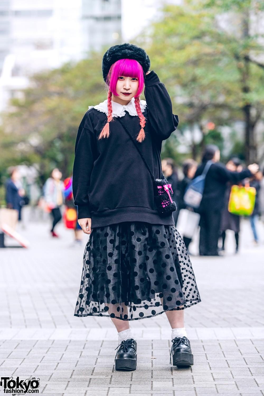 Модные и яркие персонажи с улиц Токио - 34 (40 фото)