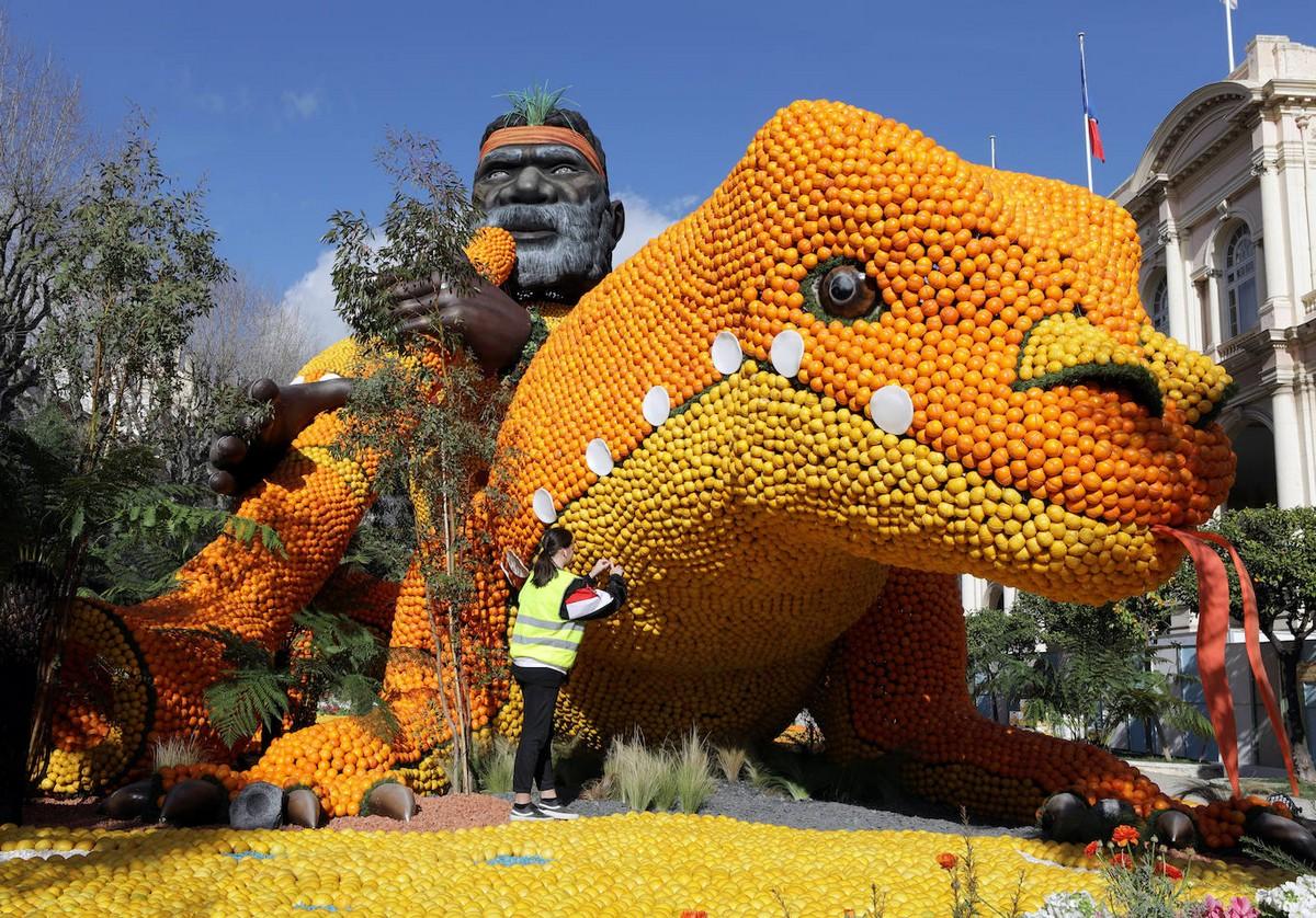 87-й фестиваль лимонов в Ментоне (25 фото)