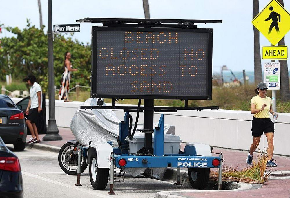 Студенты игнорируют запрет и устраивают вечеринки на пляжах Флориды (20 фото)