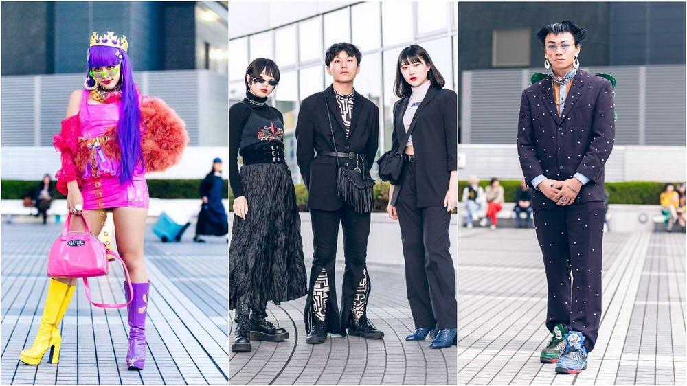 Модные и яркие персонажи с улиц Токио - 38 (40 фото)