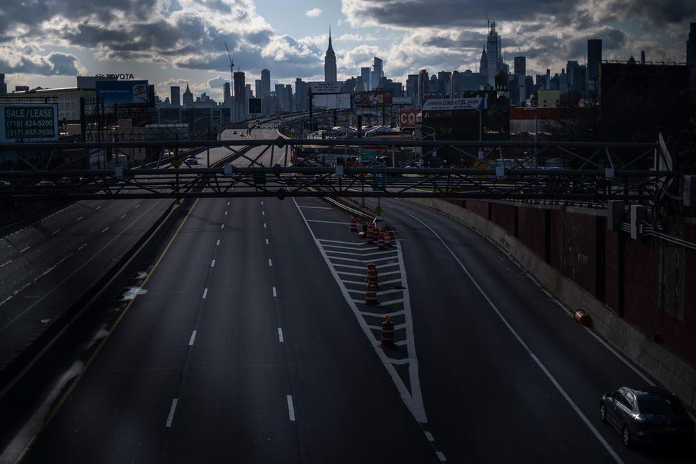 Пустые улицы Нью-Йорка (25 фото)