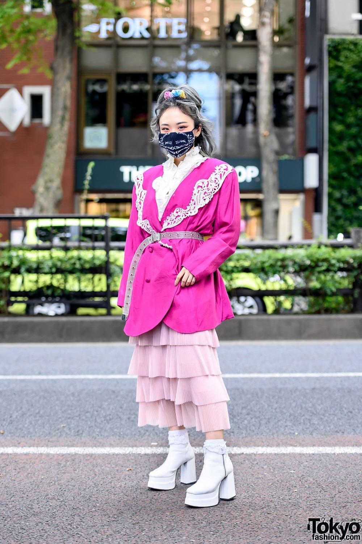 Модные и яркие персонажи с улиц Токио - 39 (40 фото)